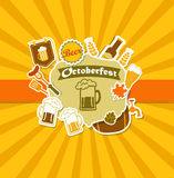 Octoberfest Vintage Beer Brewery Poster. Stock Photo