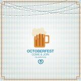 Octoberfestachtergrond met lamp Bier Royalty-vrije Stock Foto's