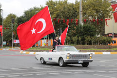 29 octobre célébration de jour de République de la Turquie Image libre de droits