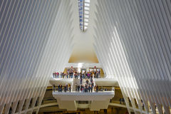 24 octobre 2016, intérieur du bâtiment d'Oculus, hall principal du nouvel Oculus, le hub de transport de World Trade Center, mA i Photo stock