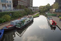 Octobre 2017, Islington, Londres, vue d'A du canal Photo stock