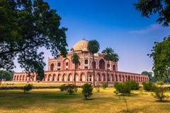 29 octobre 2014 : Jardins de la tombe du ` s de Humayun à New Delhi, dedans Photographie stock