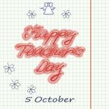 5 octobre Jour de ` de professeurs du monde Image stock