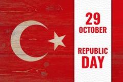 29 octobre - jour de république, vacances nationales turques Image stock