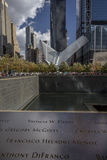 24 octobre 2016 - New York, NY - le terminal de souterrain d'Oculos et le nouveau Freedom Tower, le World Trade Center, Lower Man Photos stock