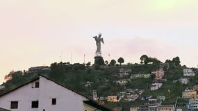 14 octobre 2016, Quito, Equateur La Vierge à ailes Mary Statue Looks Out Over de la colline d'EL Panecillo, Quito, Equateur Photo libre de droits