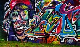 20 octobre 2016 un graffiti a signé par Youthone à Braga Image libre de droits