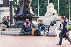 2 octobre 2014 : Washington, C.C - les gens voyageant par l'union Images stock