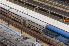 2 octobre 2014 : Washington, C.C, trains a tiré dans l'union Statio Photographie stock
