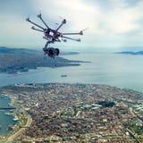 Octocopter, copter, κηφήνας στοκ φωτογραφία με δικαίωμα ελεύθερης χρήσης