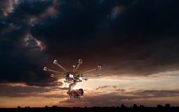 Octocopter, copter, κηφήνας στοκ εικόνες
