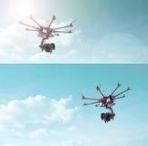 Octocopter, copter, κηφήνας Στοκ Φωτογραφία