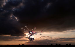 Octocopter, copter, drone Royalty Free Stock Image
