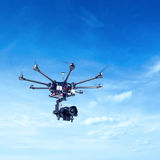 Octocopter, copter, drone Stock Images