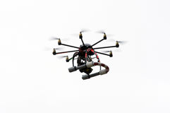 Octocopter flying Stock Image