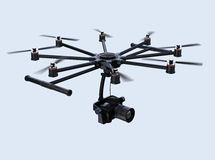 Octocopter flying in the sky Royalty Free Stock Photo