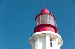Octogonal lighthouse top view Stock Photos