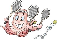Octopus 08 tenis Stock Photos