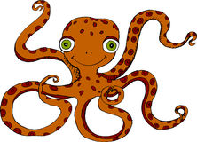 Octopus. Vector illustration of happy octopus Royalty Free Stock Image