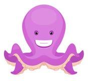 Octopus. Happy Octopus. Cute Cartoon Character Royalty Free Stock Photos
