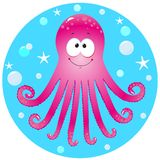 Octopus. Funny octopus vector illustration for your design Royalty Free Stock Photography