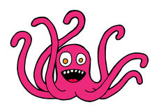 Octopus. Hand drawn monster of octopus Stock Image