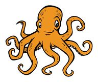 Octopus. Cartoon illustration of an octopus Royalty Free Stock Images