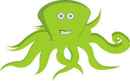 Octopus. Green octopus on white background Royalty Free Stock Images
