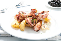 Octopus alla lagareiro a typical Portuguese dish Stock Photo