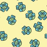 Octopus animal abstract pattern design. Decorative texture for wallpaper, card or textile fabric. Beauty character art royalty free illustration