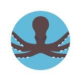 Octopus animal isolated icon. Illustration design Royalty Free Stock Photography