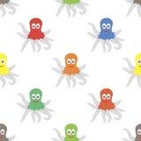 Octopus Animal Seamless Pattern Stock Images