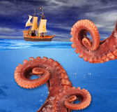 Octopus Attack. Stock Photography