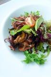 Octopus & avocado salad royalty free stock photography
