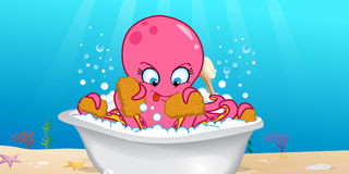 Octopus Bathing Royalty Free Stock Photography