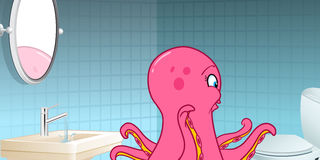 Octopus Bathroom Stock Images