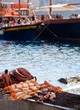 Octopus on beach in greece Stock Photo