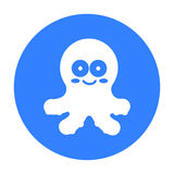 Octopus black icon. Illustration for web and mobile design. Stock Photo