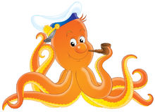 Octopus captain Royalty Free Stock Images
