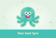 Octopus card design Royalty Free Stock Photos