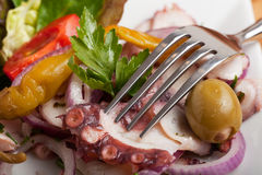 Octopus carpaccio salad Stock Photo