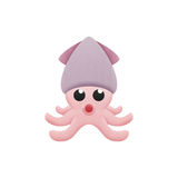 Octopus cartoon is animal in underwater to sea Stock Images