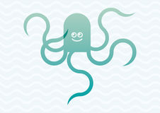 Octopus cartoon illustration Royalty Free Stock Images