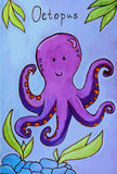 Octopus cartoon vector illustration Stock Photo