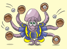 Octopus - the catcher Royalty Free Stock Image