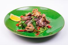 Octopus and chuka salad Stock Images