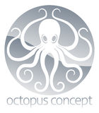 Octopus circle concept design vector illustration