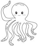 Octopus coloring page. Useful as coloring book for kids Stock Images
