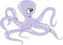An octopus crawling vector illustration