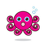 Octopus cute cartoon Stock Images